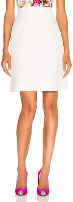 Dolce & Gabbana Jacquard Mini Skirt in White | FWRD