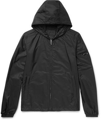 Prada Slim-Fit Shell Hooded Jacket $810 thestylecure.com