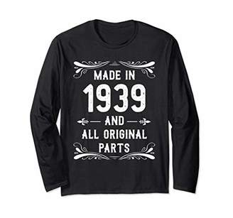 Made In 1939 Vintage 80th Birthday Long Sleeve Shirt Gift L2