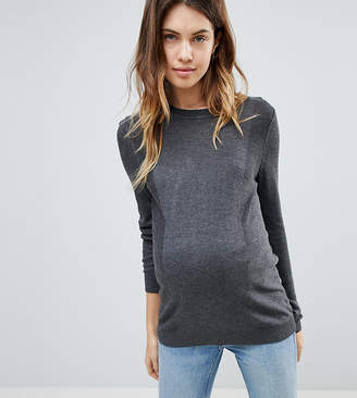 Asos (エイソス) - ASOS Maternity Sweater With Crew Neck And Panel Detail