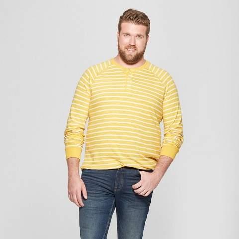 Goodfellow & Co Men's Big & Tall Long Sleeve Jersey Henley Shirt - Goodfellow & Co Zesty Gold