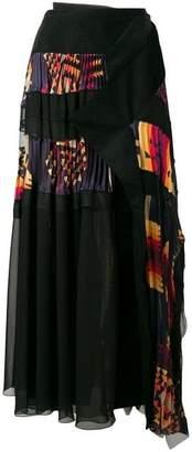 Sacai Navajo Pleated Wrap Skirt