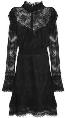 Nicholas Ruffled Cotton-Blend Lace Mini Dress
