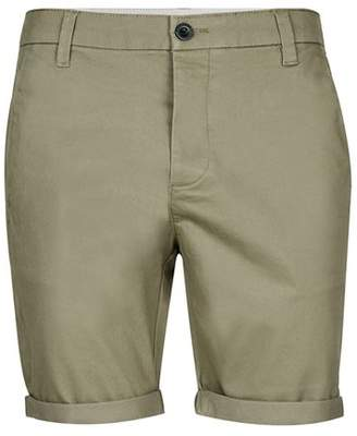 Topman Mens Light Khaki Stretch Skinny Chino Shorts
