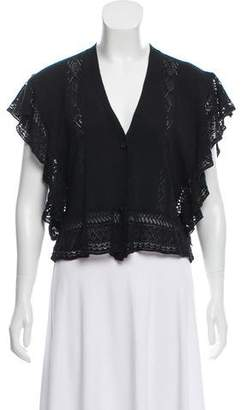 Anna Sui Embroidered Knit Cardigan w/ Tags