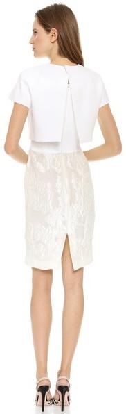 Giambattista Valli Short Sleeve Overlay Dress