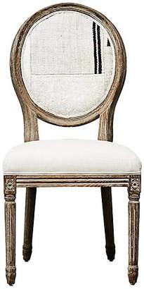 One Kings Lane Vintage Kilim & Linen Dining/Side Chair