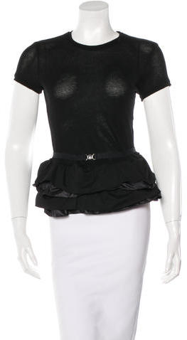 MonclerMoncler Belted Peplum Top
