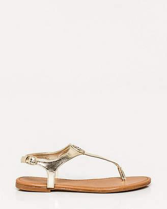 Le Château Metallic Leather-Like Thong Sandal