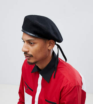 Sacred Hawk military beret hat in black