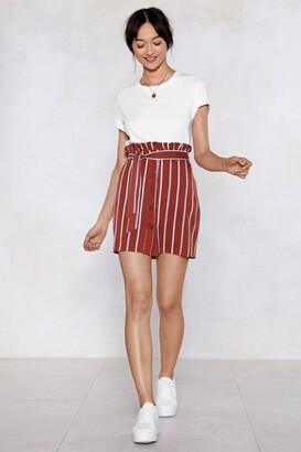 Nasty Gal Serves 'Em Stripe Paperbag Skirt