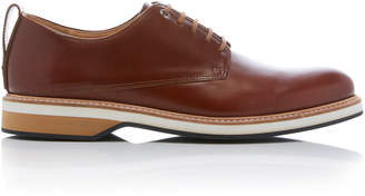 WANT Les Essentiels Montoro Cognac Leather Derby Shoes Size: 43