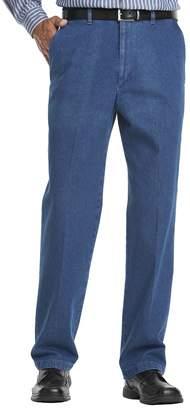 Haggar Big & Tall Work to Weekend Flat-Front Denim Pants