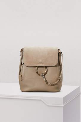 Chloé Faye suede and smooth calfskin backpack