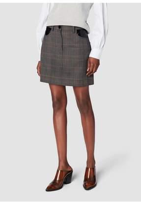 Derek Lam 10 Crosby Plaid Jean Skirt