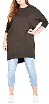 City Chic Oversize Knit Tee