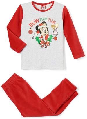 Minnie Mouse Velour Christmas Pyjamas, 2-6 Years