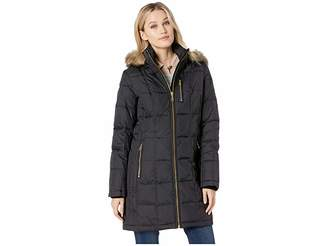 MICHAEL Michael Kors Zip Front Down with Zip Pocket at Top and Faux Fur Trim Hood M821883GZ