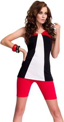 Ossa Fashion Women Cotton Leggings 1/2 Length Shorts Active Sport Casual Pants