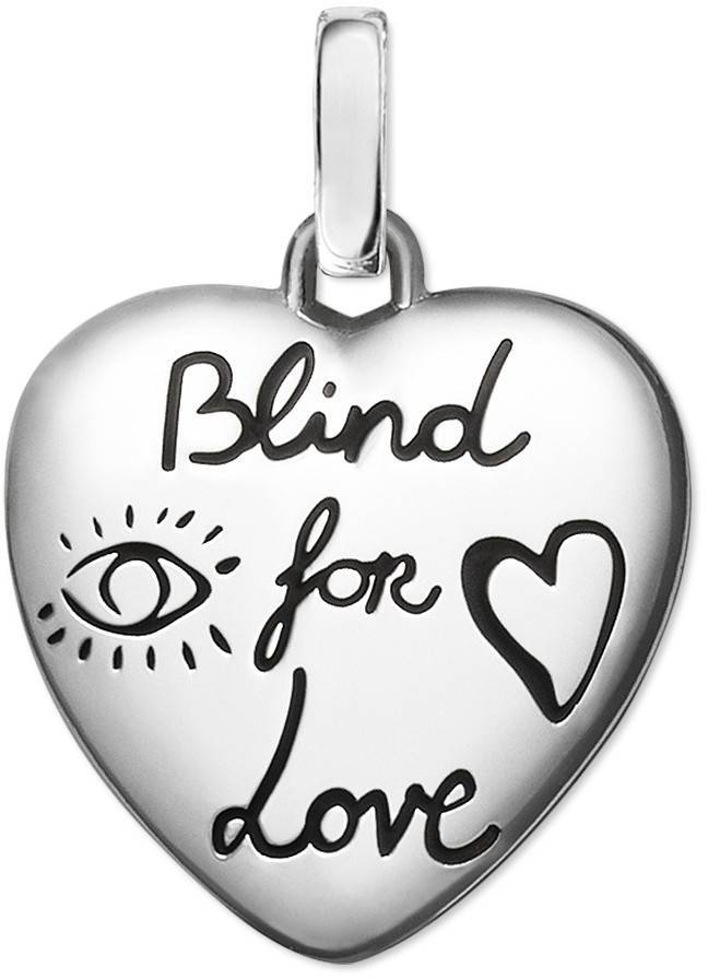 GucciBlind for Love charm in silver