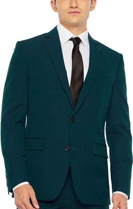 Jf J.Ferrar Dark Teal Slim Fit Stretch Suit Jacket