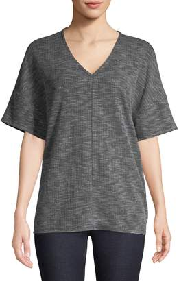 Jones New York Short Sleeve V-Neck Cocoon Top