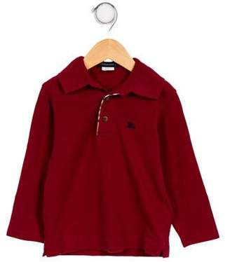 Burberry Boys' Embroidered Pointed Collar Shirt