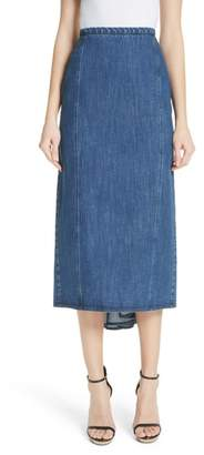 Michael Kors Fishtail Denim Skirt