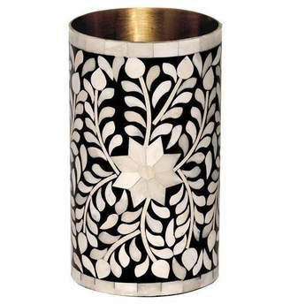Mela Artisans Imperial Beauty Flower Vase in Black & White