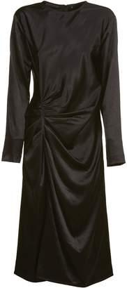 Helmut Lang Midi Crinkle Dress