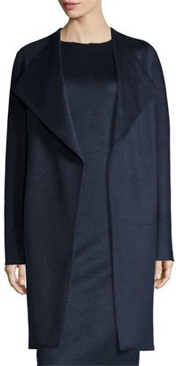 Elie Tahari Dez Oversized Tie-Waist Stretch-Wool Coat, Night $598 thestylecure.com