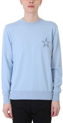 Givenchy Light Blue Cotton Sweater