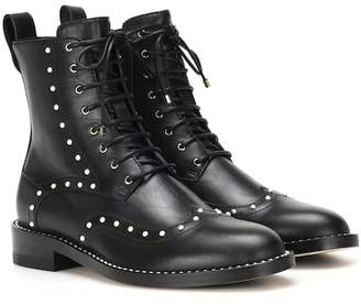 Jimmy Choo Hanah Flat leather ankle boots