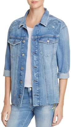 Mavi Jeans Kaylee Icon Denim Jacket in Rose Laser