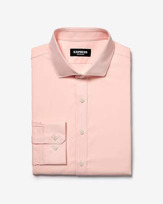 Express Slim Solid Spread Collar Wrinkle-Resistant Performance Dress Shirt