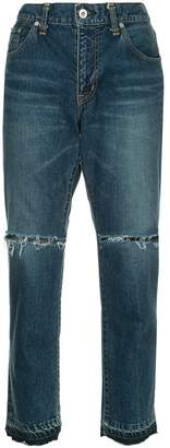Sacai slim cropped jeans