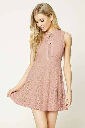 FOREVER 21+ Crochet Lace A-Line Dress $27.90 thestylecure.com
