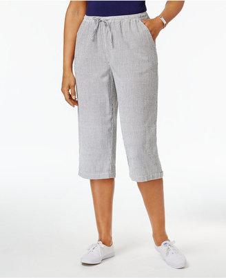 Karen Scott Cotton Seersucker Capri Pants, Only at Macy's $39.50 thestylecure.com