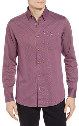 Ted Baker Newyers Triangle Check Sport Shirt
