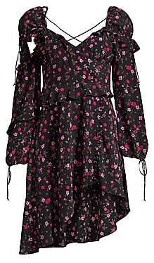 For Love & Lemons For Love& Lemons For Love& Lemons Women's Rosie Ruffled Floral Mini Dress