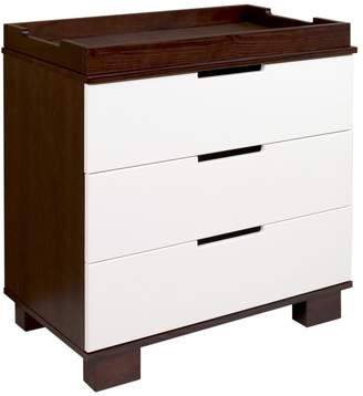 Babyletto Modo 3-Drawer Changer Dresser with Removable Changing Tray, Espresso / White