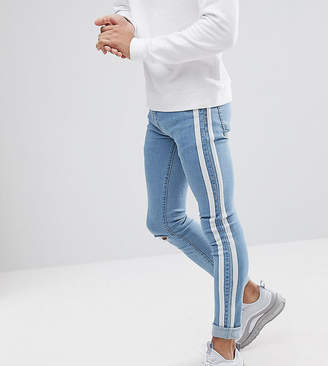 Liquor N Poker Skinny Jeans With Side Stripes