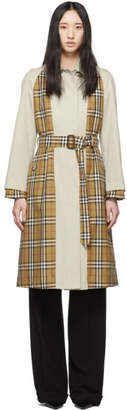 Burberry Beige Check Guiseley Trench Coat