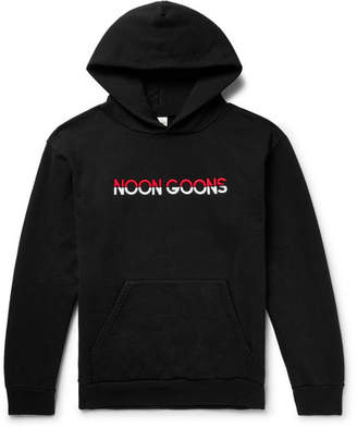 Noon Goons Logo-Embroidered Fleece-Back Cotton-Jersey Hoodie
