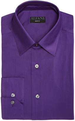 Alfani AlfaTech by Men Solid Athletic Fit Dress Shirt