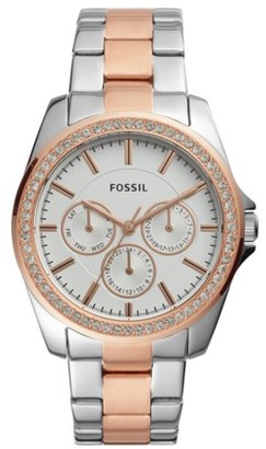 Fossil Janice Multifunction Two-Tone Stainless Steel Watch jewelry