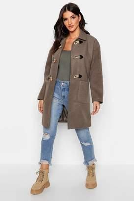 boohoo Wool Look Duffle Coat