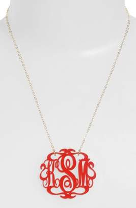 Moon and Lola Large Oval Personalized Monogram Pendant Necklace