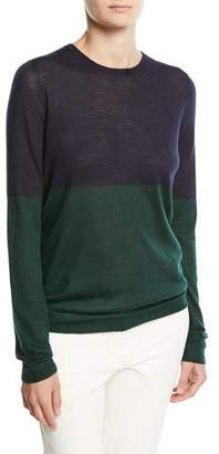 Joseph Cashmere Colorblock Crewneck Sweater