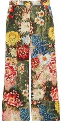 Gucci Impressionist garden wide leg pants